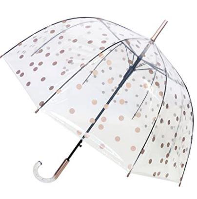 Mejor paraguas transparente con lunares