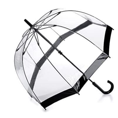Mejor paraguas transparente Fulton negro
