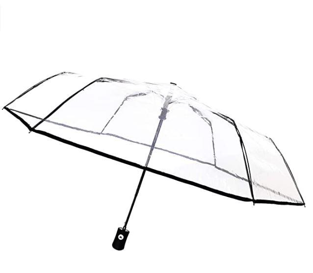 Mejor paraguas transparente y plegable