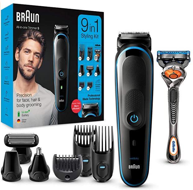 Mejor recortadora de barba Braun 9 en 1
